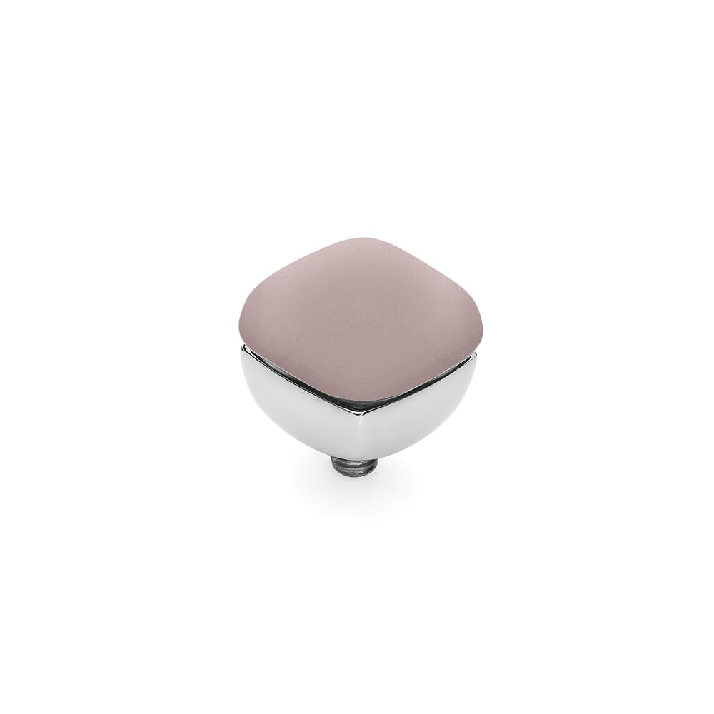 QUDO INTERCHANGEABLE ASCONA TOP 10MM - DARK ROSE OPAL - STAINLESS STEEL
