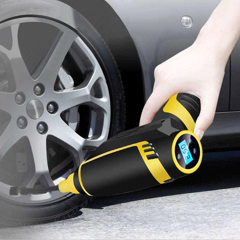 120W Car Air Compressor Handheld USB Rechargeable Electric Inflator Pump
