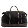 Image of Waxed Canvas Leather Weekender Bag Waterproof Travel Duffels