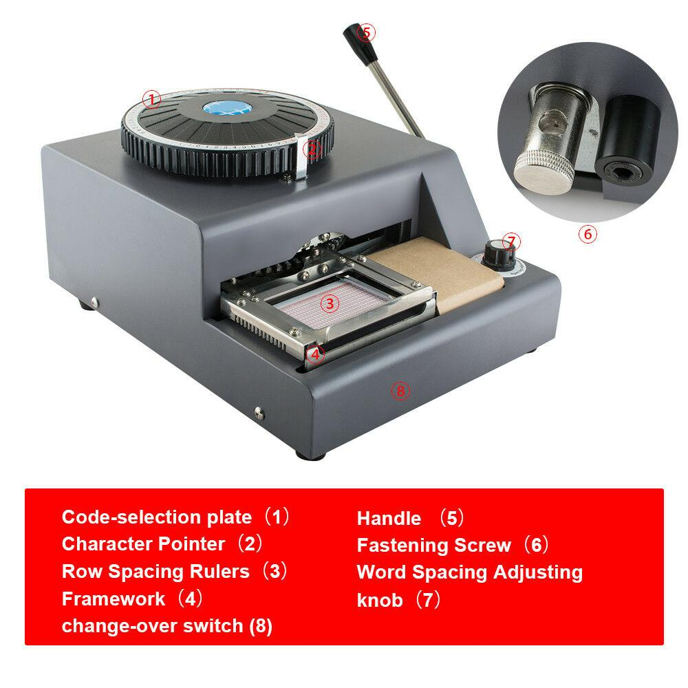 Embossing Machine 72 Character Card Embosser for PVC Card Credit ID VIP Manual Embosser Machine Credit Card