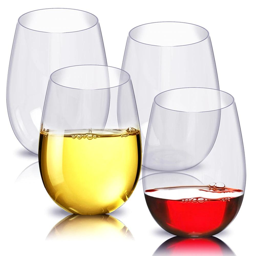 4 Pcs Set Shatterproof Unbreakable Red Wine Glasses