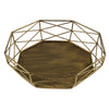 Image of Geometric Wrought Iron Gold/Sliver Cake Stand for Wedding - Balma Home