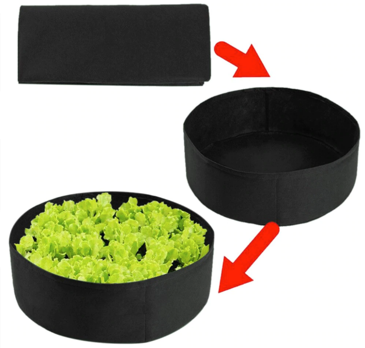 Round Planting Container Grow Bag Raised Garden Bed