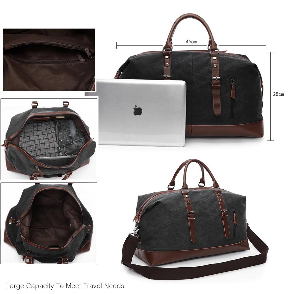 Men's Duffle Bag Travel Waterproof Waxed Canvas
