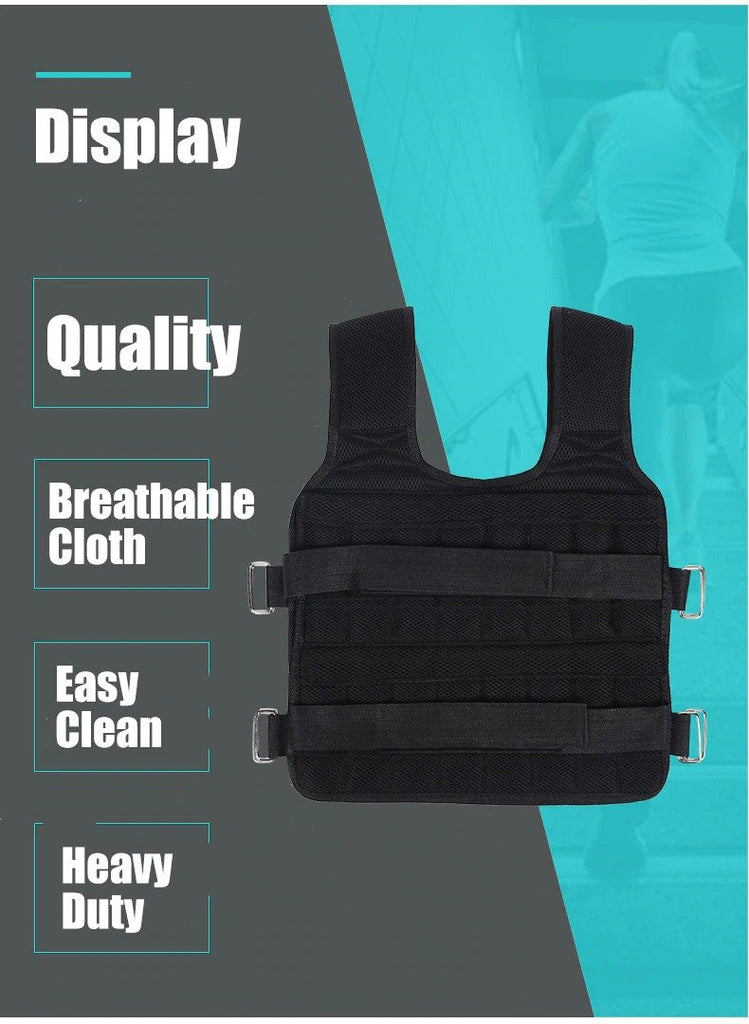Workout Adjustable Weighted Vest 40/110 LB