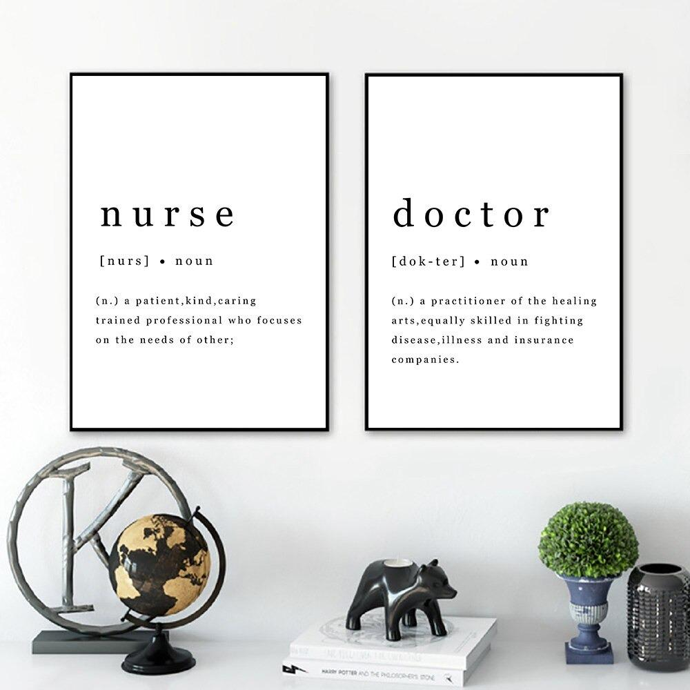 Nurse and Medical Assistant Poster, Vertical Canvas
