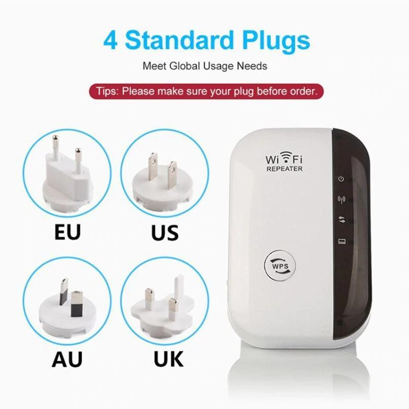 Wifi Boost - 300MBPS Wifi Booster, White Simple Pack / US plug