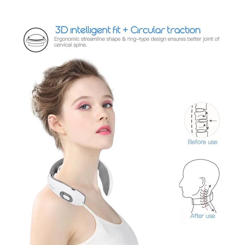 Neck Massager Wireless Electric Pulse Heating For Neck Pain Relief, Neckology Massager