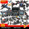 Image of 8 IN 1 Robot Aircraft Car City Police SWAT Building Block - Balma Home