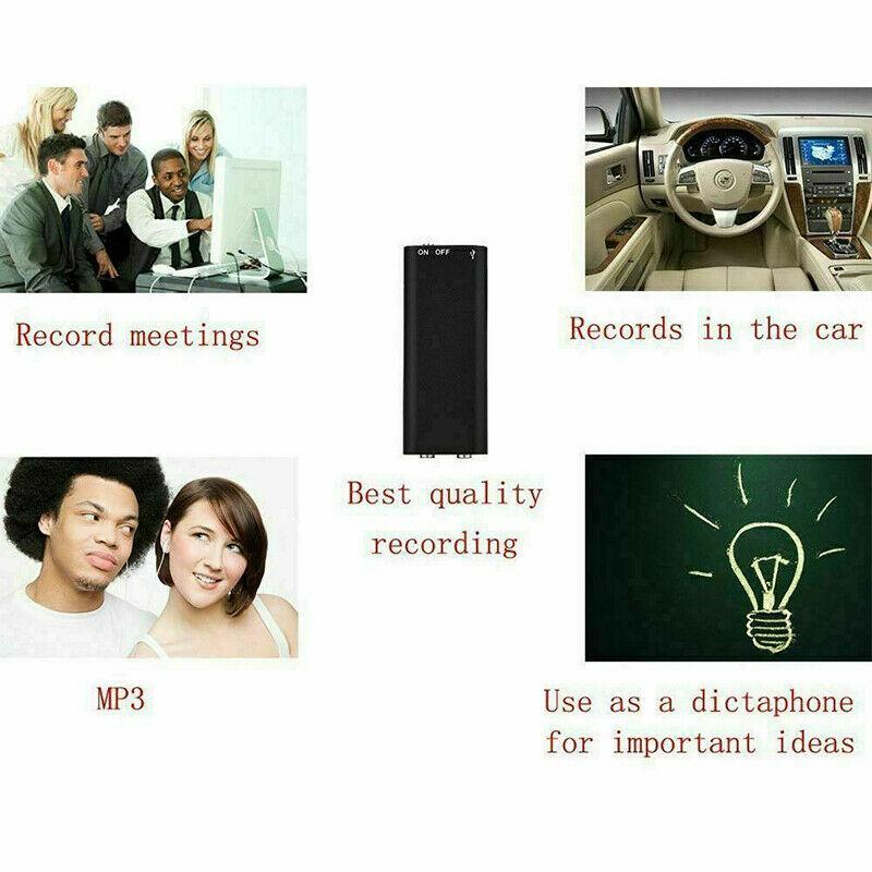 Mini Voice Recorder - Mini Audio Recorder - Mini Recording Device - Smallest Hidden Audio Recorder