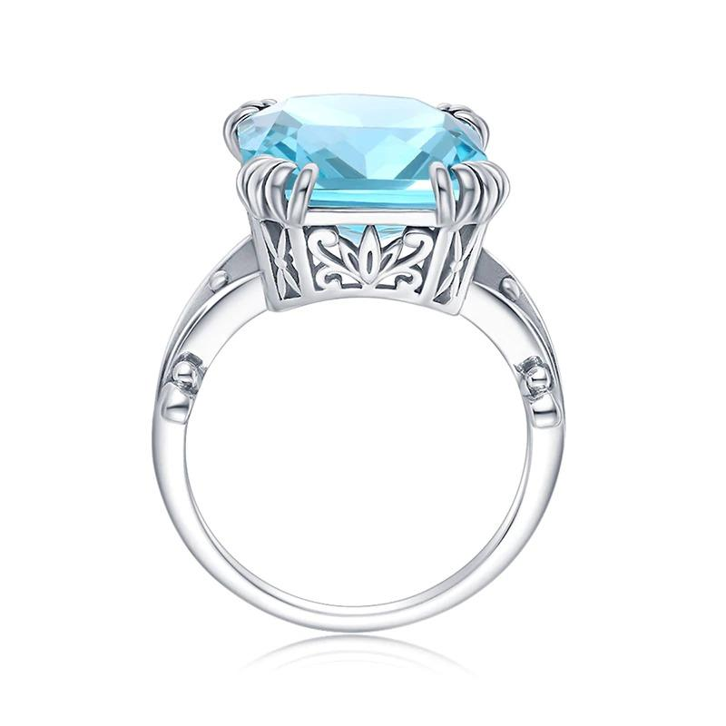 Sterling Silver Aquamarine Ring For Women