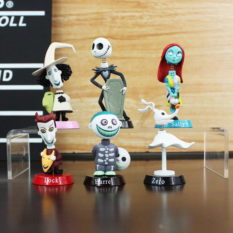 Set of 6 collectible figures nightmare before christmas