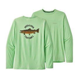 Men's Long-Sleeve Cap Cool Daily Fish Graphic Shirt