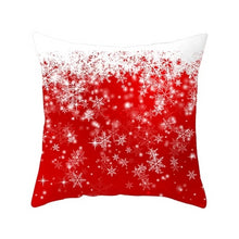 Housse coussin noel rouge