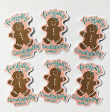 Load image into Gallery viewer, Fearfully and Wonderfully Made Gingerbread Cookie Vinyl Sticker Christmas