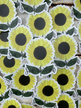 "Load image into Gallery viewer, ""Seek the Light"" Sunflower Clear Vinyl Sticker"
