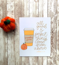 Load image into Gallery viewer, Pumpkin Spice Latte Fall Art Print
