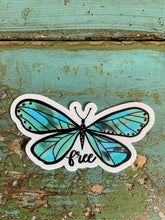 "Load image into Gallery viewer, ""Free"" Butterfly Vinyl Sticker"