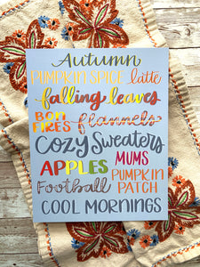 Autumn Love - Hand Lettered Fall Art Print