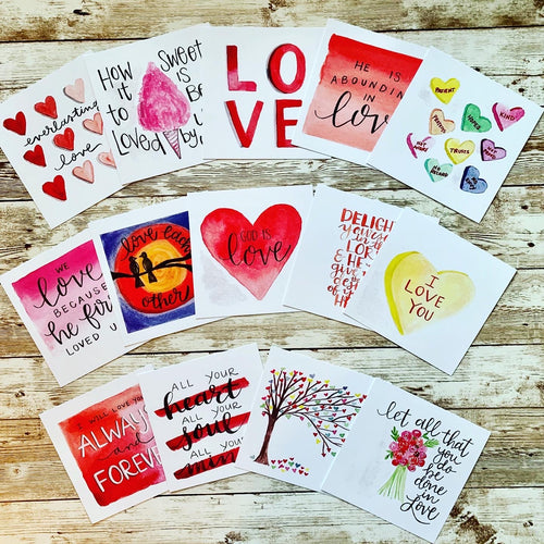 Scripture Valentines Set of 16