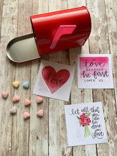 Load image into Gallery viewer, 16 Card Set - Christian Scripture Valentines Watercolor Designs