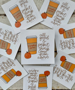 Pumpkin Spice Latte Vinyl Sticker