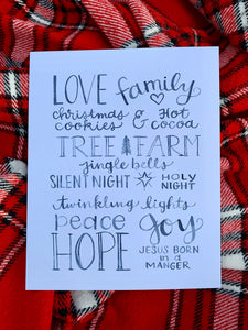 Favorite Things Christmas Print