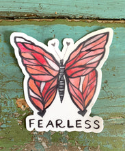 Load image into Gallery viewer, Fearless Butterfly Vinyl Sticker