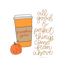Load image into Gallery viewer, Pumpkin Spice Latte Vinyl Sticker
