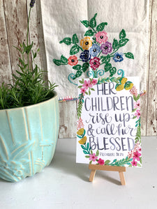 Proverbs 31:28 - Children Call Her Blessed 5x7 Card