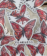 "Load image into Gallery viewer, ""Fearless"" Butterfly Vinyl Sticker"