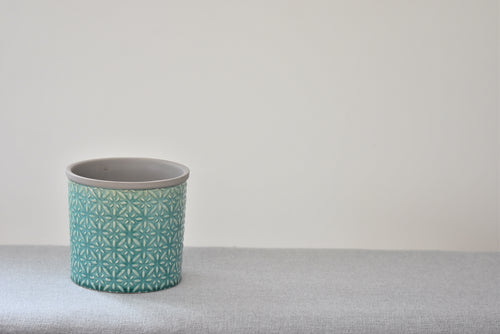 Aqua Glazed Pot
