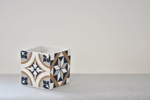 Square Tile Pot