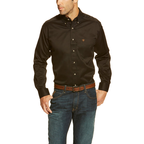 Ariat Solid Twill Shirt (Black)
