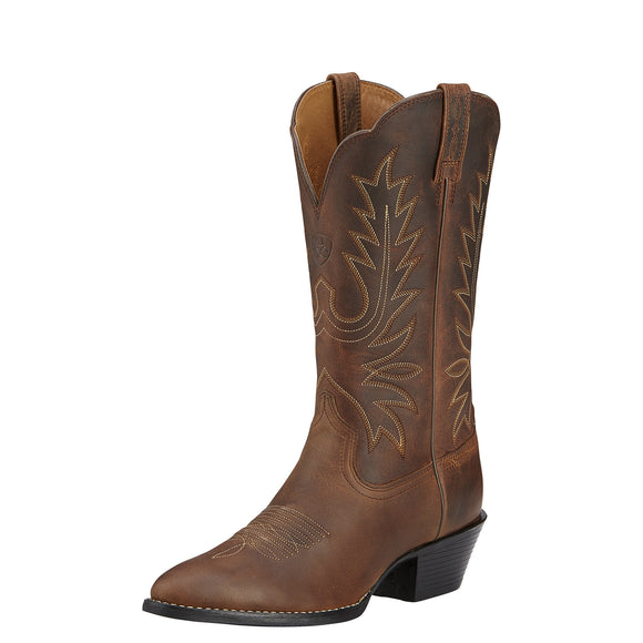 Women's Ariat Heritage Western R Toe (Distressed Brown)