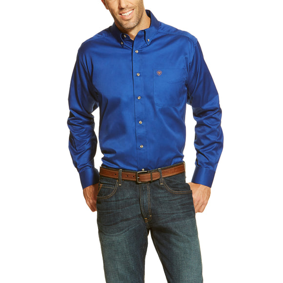 Ariat Solid Twill Shirt (Ultra Marine)