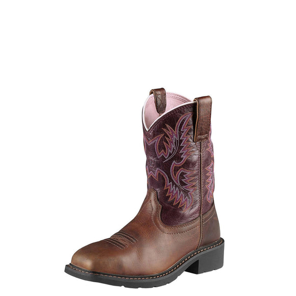 Women's Ariat Krista Steel Toe Work Boot (Dark Tan)