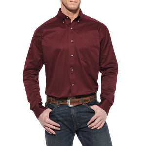 Ariat Solid Twill Shirt (Burgundy)