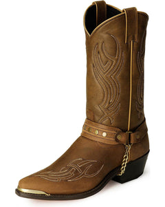 Abilene Sage Studded Harness Boot (Brown)