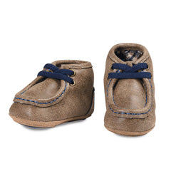 Baby Double Barrel Smith Shoes (Brown)