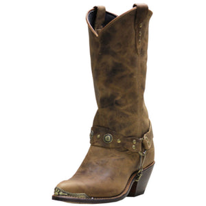 "Women's Abilene Sage 11"" Concho Western (Antique Tan)"