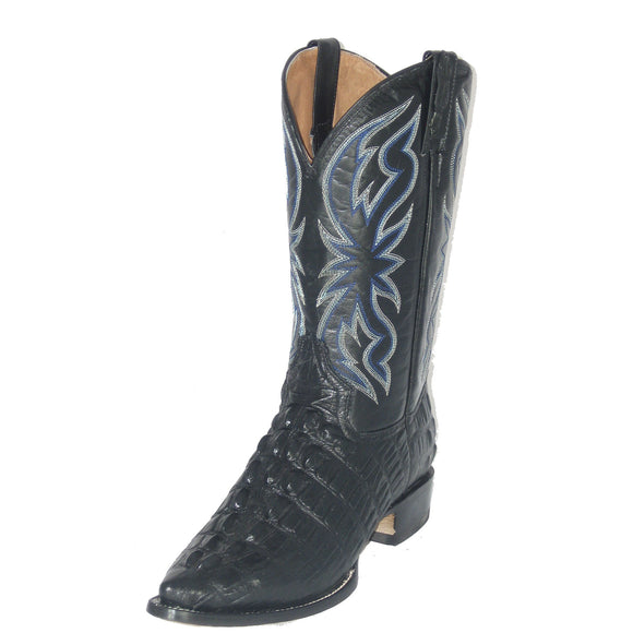 Cowtown Alligator Print Boot (Black)