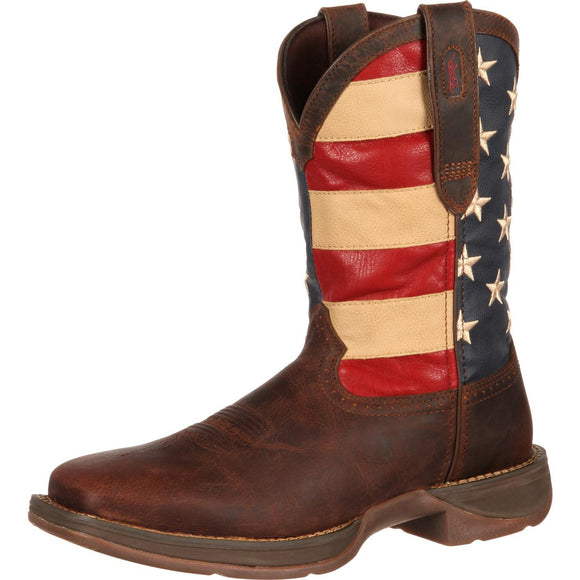 Durango Rebel Patriotic USA Flag Boot (Brown)