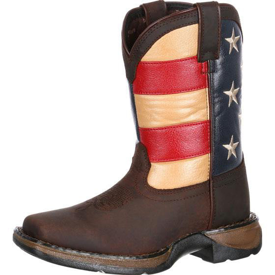 Children's Durango Lil' Rebel USA Flag (Brown)