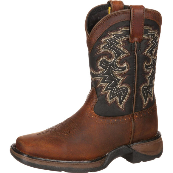 Children's Durango Western Boot (Tan \ Black)