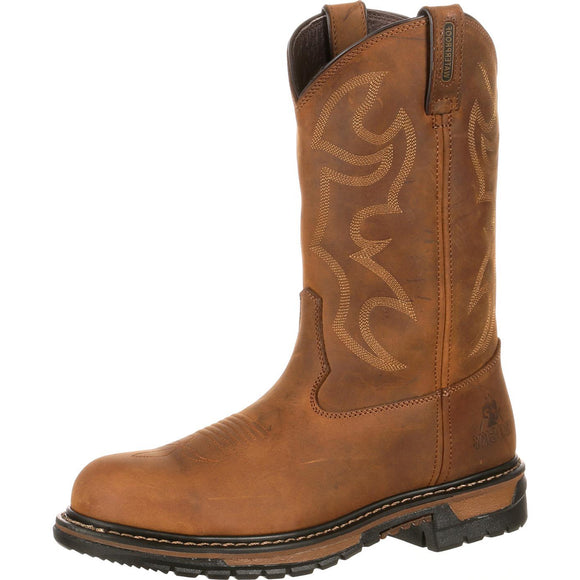 Rocky Original Ride Branson Roper Steel Toe Waterproof (Aztec Crazy Horse)