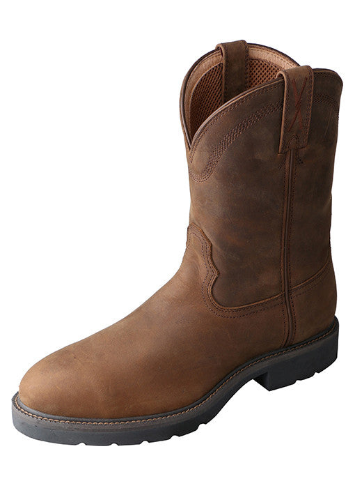 Twisted X Work Boot (Distressed Saddle)