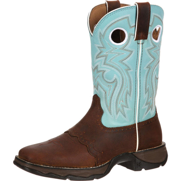 Women's Durango Lady Rebel (Powder Blue \ Brown)
