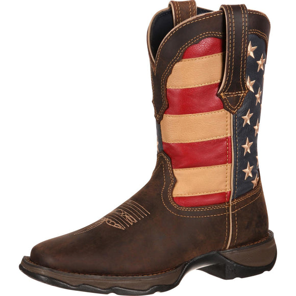 Women's Durango Lady Rebel USA Flag Boot (Brown)
