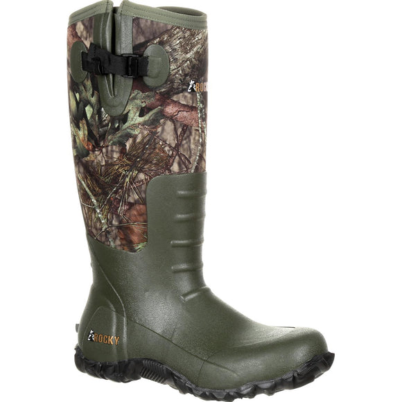Rocky Core Rubber Waterproof Outdoor Boot (Mossy Oak Break Up Country)